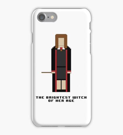 Hermione Granger 'The Brightest Witch of Her Age' 8-bit iPhone Case/Skin