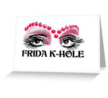 Frida K-Hole Eyes Greeting Card