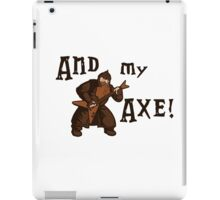Gimli goes rock! iPad Case/Skin