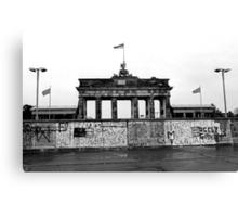 BRANDENBURG GATE - Memories of a divided city. Canvas Print