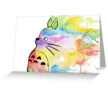 Rainbow Totoro Greeting Card