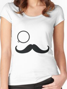 Mister 'Stache Women's Fitted Scoop T-Shirt
