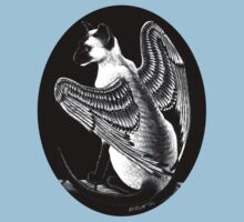 Winged Siamese Cat by SMorrisonArt