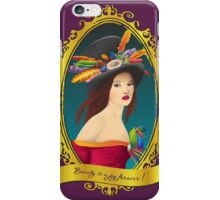 Lady with a hat ! iPhone Case/Skin