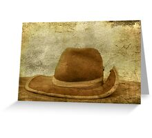 Grunged Cowboy Hat... Greeting Card