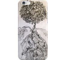 Chrysanthemum after Piet Mondrian iPhone Case/Skin