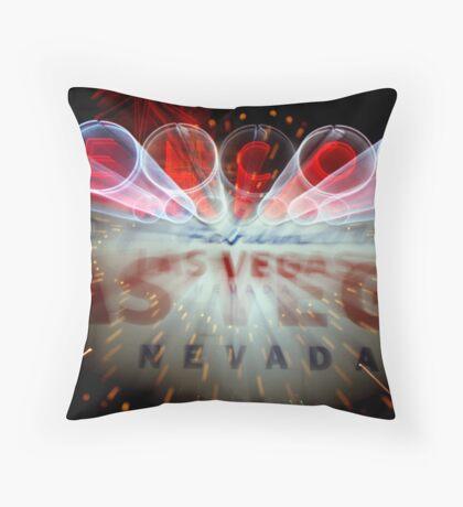 Vegas Sign No. 5 Throw Pillow