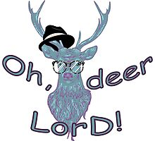 Oh, deer lord! Photographic Print