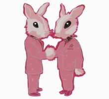 Pink Rabbits  by Opipop