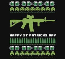 Funny AR-15 Ugly St. Patrick's Day Sweater T-Shirt and Gifts by Albany Retro