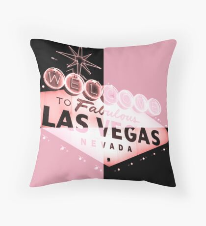 Vegas Sign No. 31 Throw Pillow