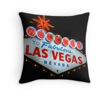 Vegas Sign No. 6 Throw Pillow