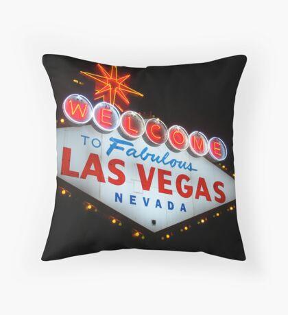 Vegas Sign No. 6 Throw Pillow