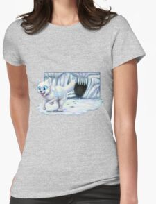 Miyu the White Wolf Womens Fitted T-Shirt