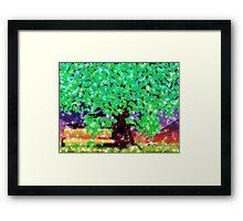 Fantasy oak tree with ravens Framed Print