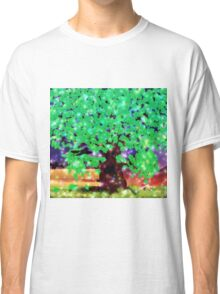 Fantasy oak tree with ravens Classic T-Shirt