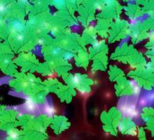 Fantasy oak tree with ravens Sticker