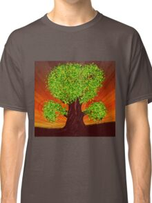 Fantasy tree at sunset Classic T-Shirt