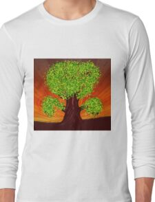 Fantasy tree at sunset Long Sleeve T-Shirt
