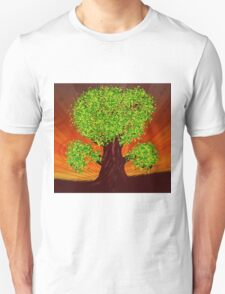 Fantasy tree at sunset T-Shirt
