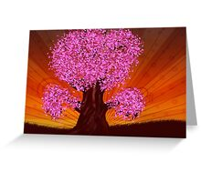 Fantasy tree of pink color Greeting Card