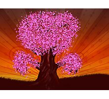 Fantasy tree of pink color Photographic Print