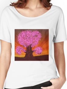 Fantasy tree of pink color Women's Relaxed Fit T-Shirt