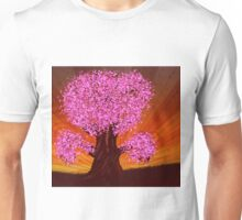 Fantasy tree of pink color Unisex T-Shirt