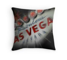 Vegas Sign No. 4 Throw Pillow