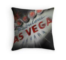 Vegas Sign No. 4 Throw Pillow