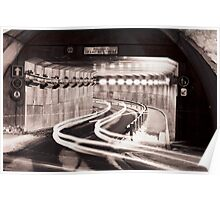 Tunnel through Tignes Poster