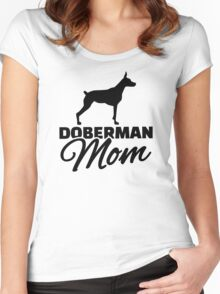 Doberman Mom Women's Fitted Scoop T-Shirt