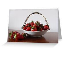 Vrysaatse Aarbeie (Strawberries from the Free State) Greeting Card