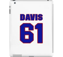 National baseball player Kane Davis jersey 61 iPad Case/Skin