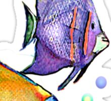 FISH & BUBBLES by SHARON SHARPE Sticker