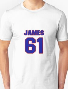 National baseball player Justin James jersey 61 T-Shirt