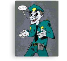 Vampire cop Canvas Print