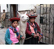 Alpaca Girls Photographic Print