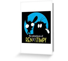 The Adventures Of Ren & Stimpy Greeting Card