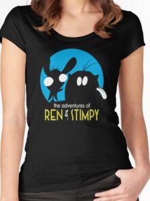 The Adventures Of Ren & Stimpy Women's Fitted Scoop T-Shirt
