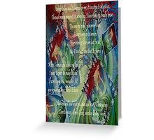 And Now I'll Look Away Poetry Greeting Greeting Card