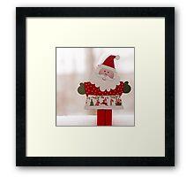 Santa toy, close up Framed Print