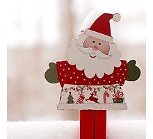 Santa toy, close up Photographic Print