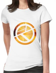 Orange Circle Womens Fitted T-Shirt