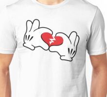 Mickey broken heart Unisex T-Shirt