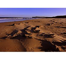 Marske on Sea Beach , Northern England on a wild and windy day. Photographic Print