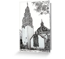 The California Bell Tower and Museum of Man Building - San Diego Greeting Card