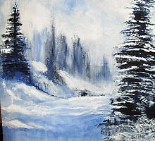 Snowscape by Beena Khan