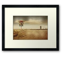Give me a sign... Framed Print