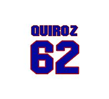 National baseball player Guillermo Quiroz jersey 62 Photographic Print